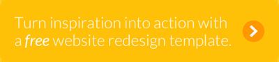 Nonprofit website redesign template CTA