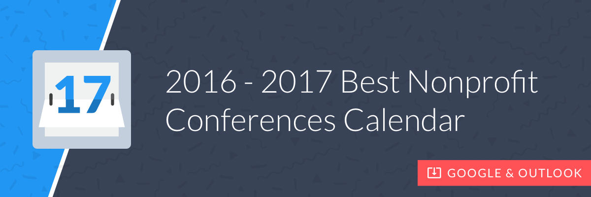 Get the 2017 Best Nonprofit Conferences Calendar