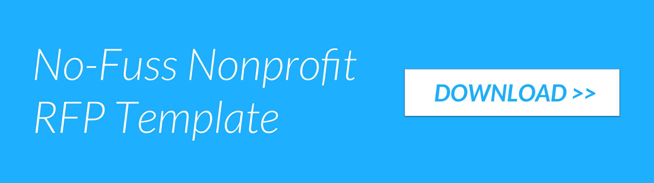 No-Fuss Nonprofit RFP Template