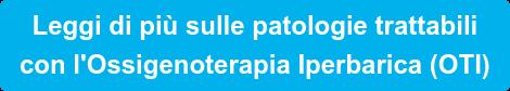 Vai alla sezioneOssigenoterapia Iperbarica