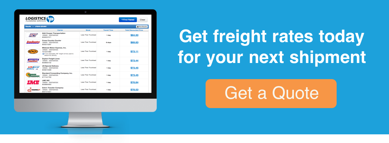 Get a freight quote today for your next shipment.
