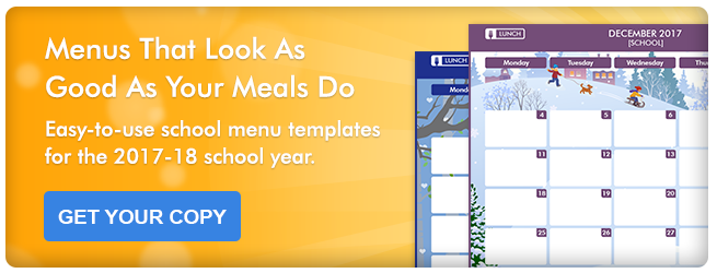 -Easy-to-use school menu templates for the 2017-18 school year | Get Your Copy