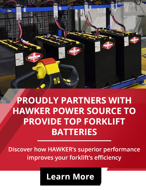 hawker forklift battery