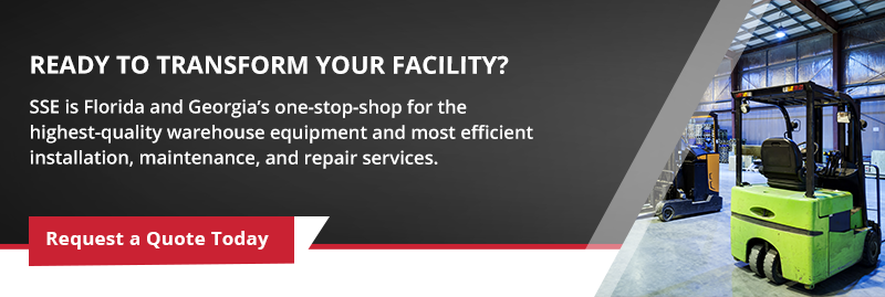 SSE warehouse equipment, installation, maintenance, and repair services