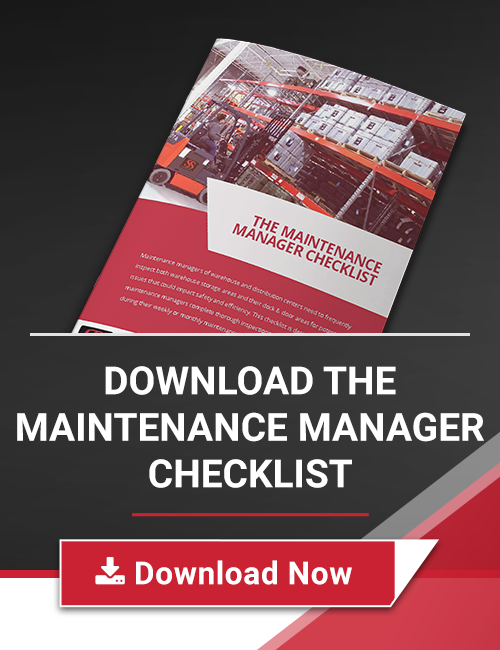 warehouse maintenance manager checklist