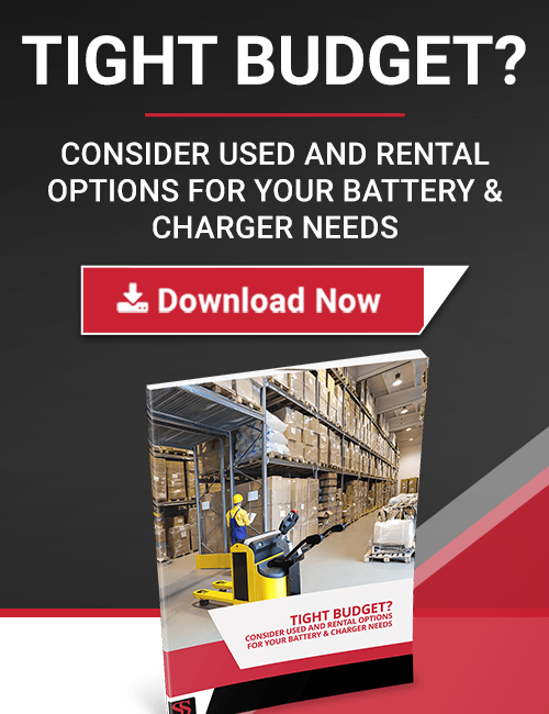 used and rental electric forklift batteries