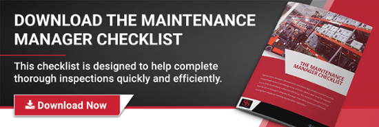 Maintenance Manager Checklist