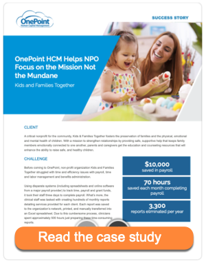 HCM automation saves NPO time and money