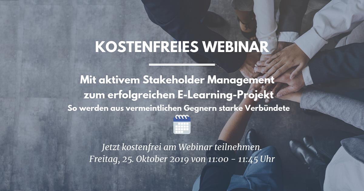 Webinar: Aktives Stakeholder Management