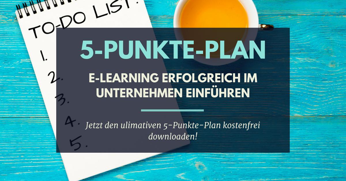 5-Punkte-Plan E-Learning erfolgreich im Unternehmen einführen