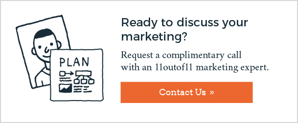 Request a complimentary call with an 11outof11 marketing expert