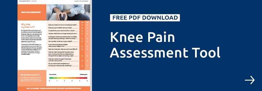 Logansport Memorial Knee Pain Assessment Tool