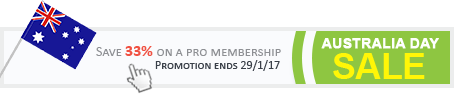 Australia Day Sale - Save 33% on a Pro Membership