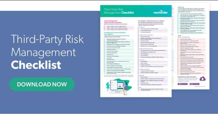 third-party risk management checklist
