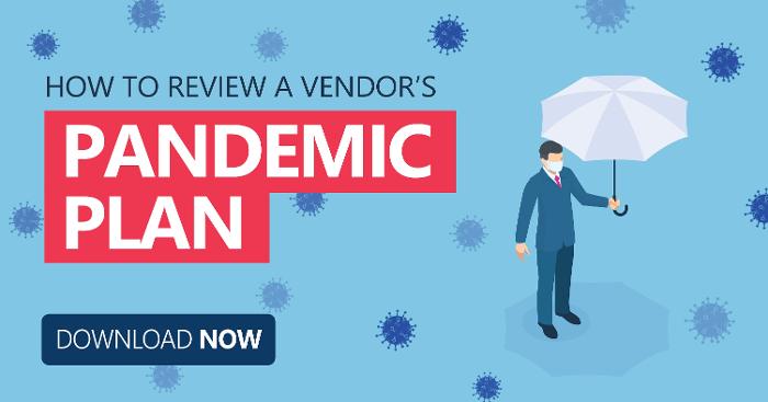 review vendors pandemic plan