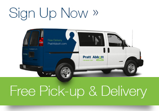 Sign up for Pratt Abbott's free pick up and delivery service!