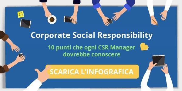 """Scarica l'infografica """"Corporate Social Responsibility in Italia: i 10 punti che ogni CSR Manager dovrebbe conoscere"""""""