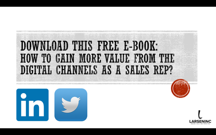 Download free ebook: How to gain value from the digital channels as a salesrep!