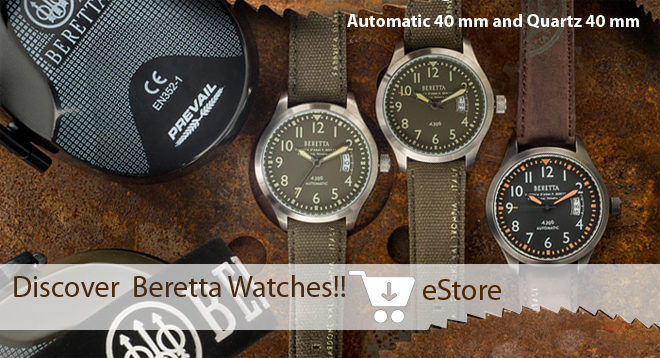 Watches Beretta automatic 40mm and Quartz 40mm