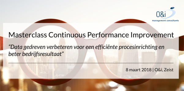 Masterclass Continuous Performance Improvement maart 2018