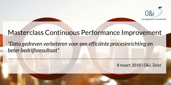 Masterclass Continuous Performance Improvement maart 2018