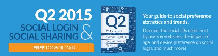 Q2 2015 Social Statistics LoginRadius