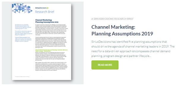 Channel Marketing:  Planning Assumptions 2019