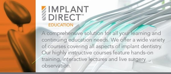 Implant Direct Education banner