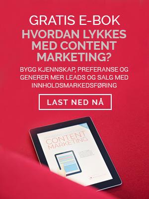 Gratis Ebok - Hvordan lykkes med content marketing