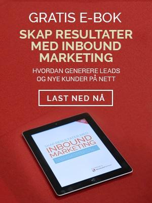 Gratis Ebok - Skap Resultater med inbound marketing