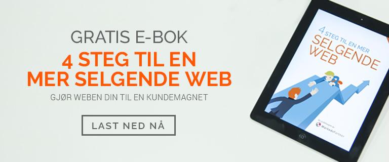 Gratis eBok - 4 steg til en mer selgende web