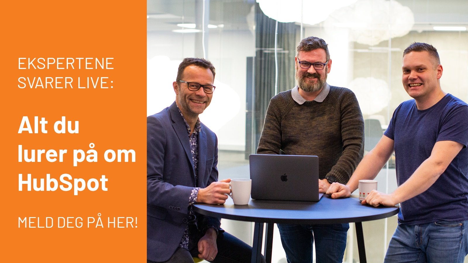 Meld deg på Live-webinar om HubSpot