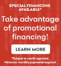 special financing available, subject to credit approval, minimum monthly payment required