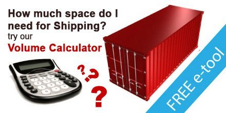 Download the international shipping volume calculator