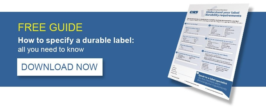 FREE GUIDE - How to specify a durable label: all you need to know