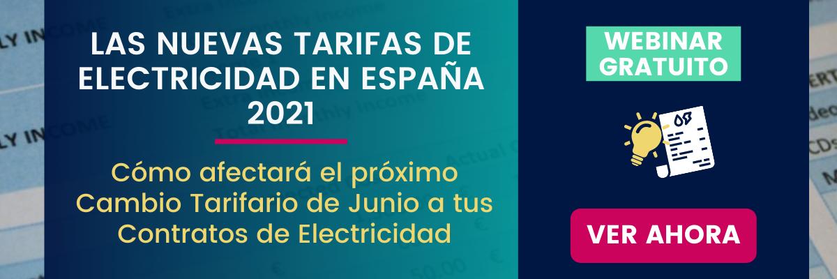Cambios en las tarifas eléctricas españolas 2021