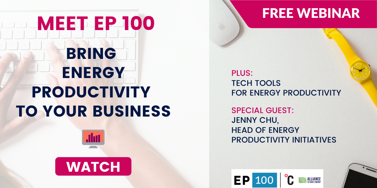 energy productivity EP100 Climate Group webinar
