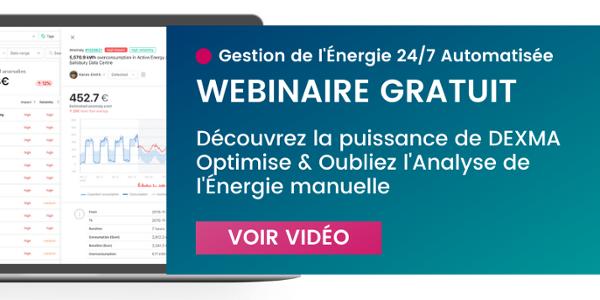 Gestion de l'énergie automatisée 24/7 DEXMA Optimise