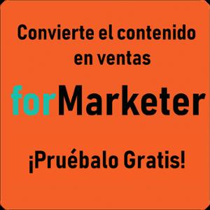 Convierte tus contenidos en ventas-forMarketer