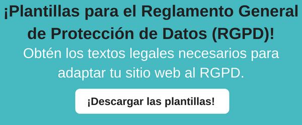 plantillas reglamento general protección datos rgpd