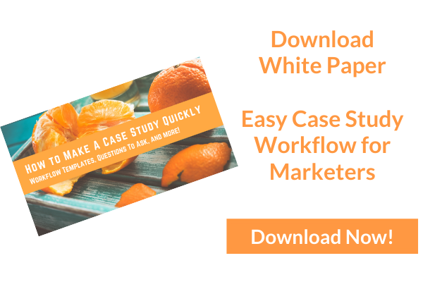 Easy Case Study Workflow for Marketers - landing page image