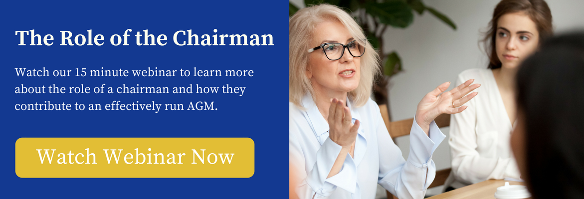 role of chairman in board meetings - webinar