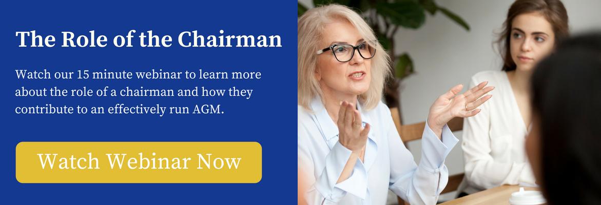 role of chairman in board meetings - webinar
