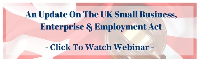 UK Small Business, Enterprise & Employment Act Webinar