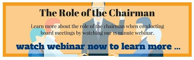 The role of the chairman in board meetings - webinar