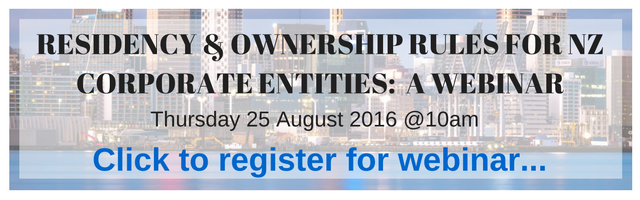 Webinar on New Zealand Rules for Corporate Entities