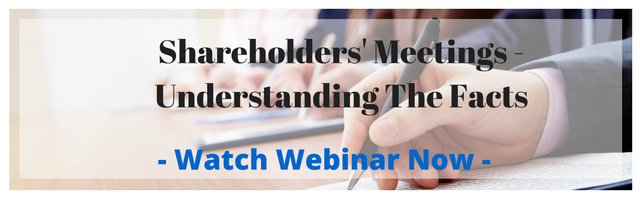 Shareholders' Meetings -  Understanding The Facts