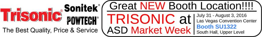 Visit Trisonic in Las Vegas at Booth SU1322, July 31 to Aug 3