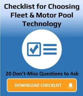 Checklist for choosing Fleet and Motor Pool Technology