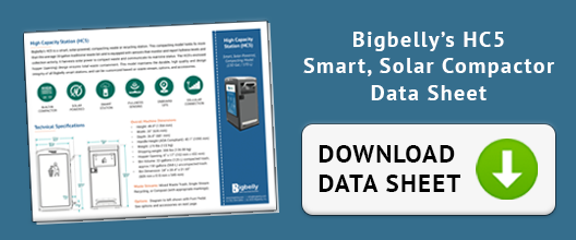 Download Data Sheet for Bigbelly's HC5 Smart, Solar Compactor